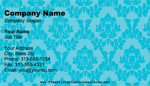 Blue Victorian business card