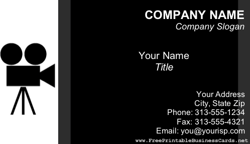Video/Film business card