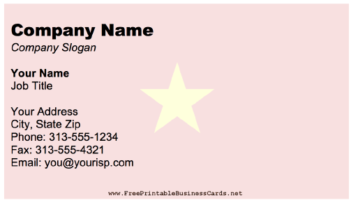 Vietnam business card