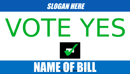 Vote Yes Sign business card