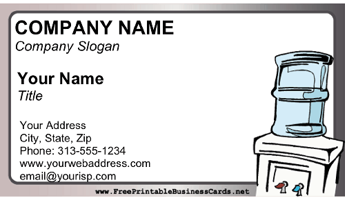 Water Delivery business card