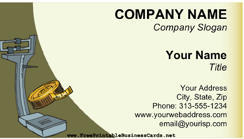 Weight Loss business card