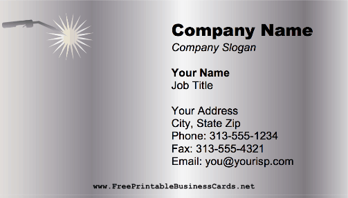 Welding Torch business card