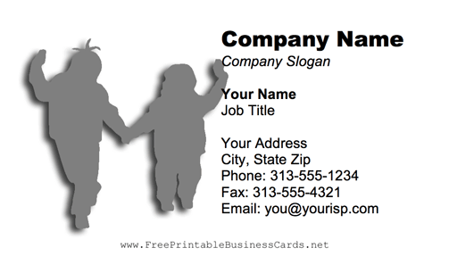 Winter Children business card