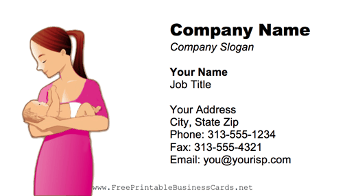 Woman And Baby business card