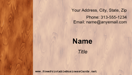 Wood Grain business card