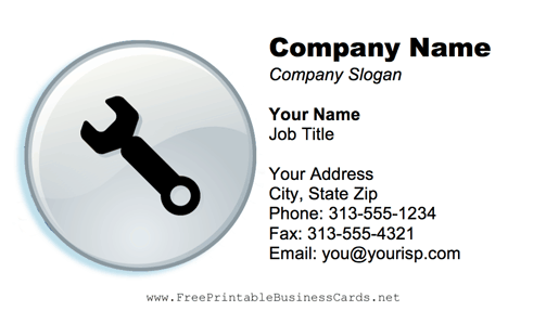 Wrench business card