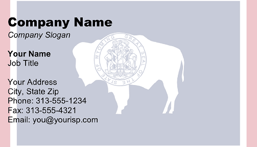 Wyoming Flag business card