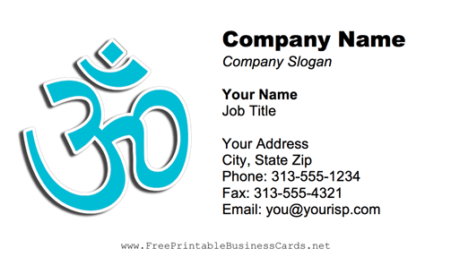 Yoga Design business card