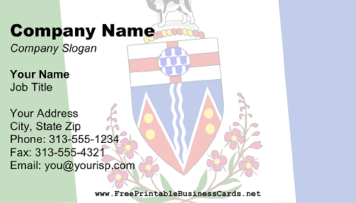 Flag of Yukon business card