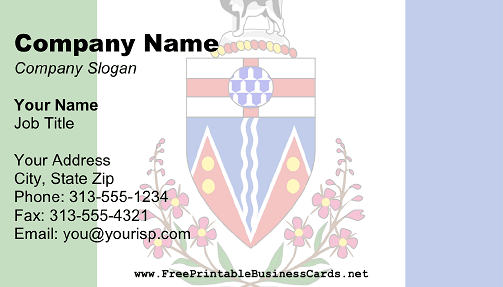 Yukon Flag business card