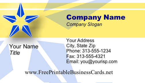 Executive #1 business card