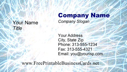 Business #4 business card