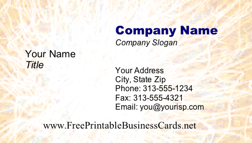 Business #4a business card