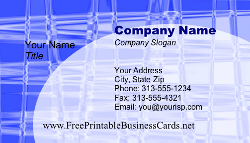 Business #5 business card