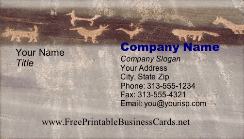 Cave Painting business card