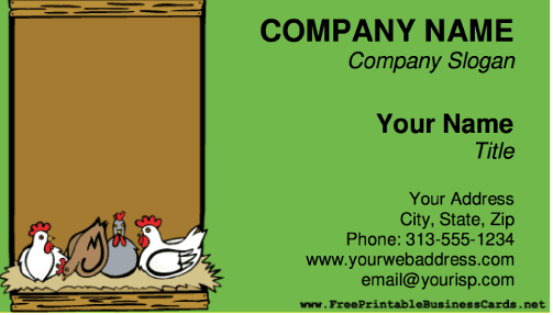 Chickens business card