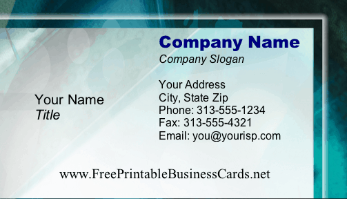 Technology #1 business card