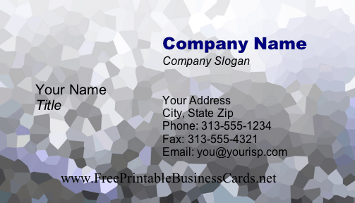 Facet business card