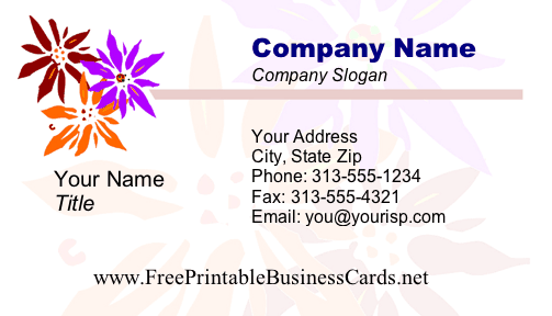 Flowers #1 business card