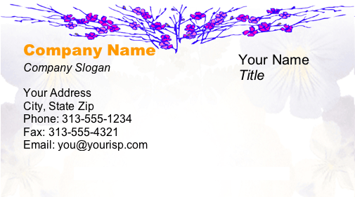 Flowers #2 business card