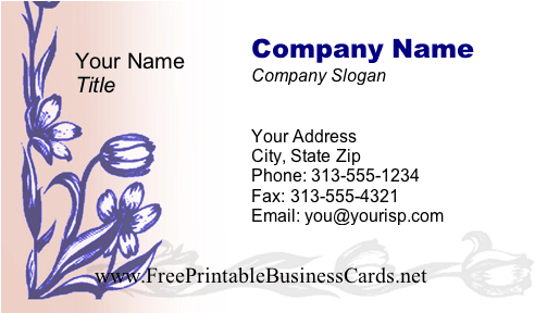 Flowers #4 business card