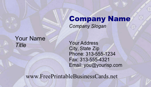 Funky #4 business card