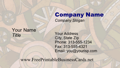 Funky #4a business card