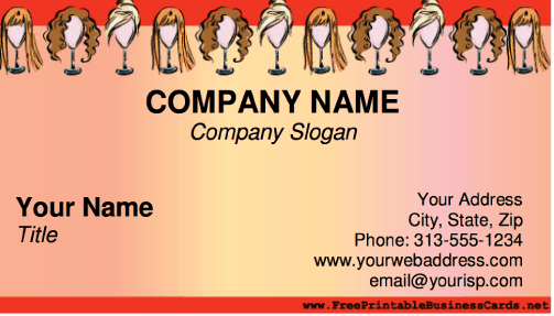 Hair Stylist business card