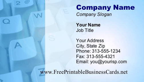 Keyboard business card