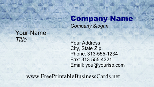 Lace #2 business card