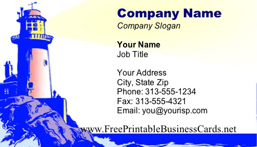 Lighthouse business card