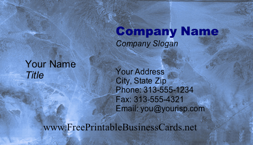 Blue Marble business card