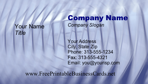 Mirror business card