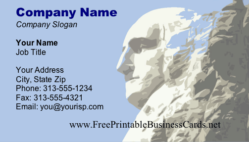 Mount Rushmore Monument business card
