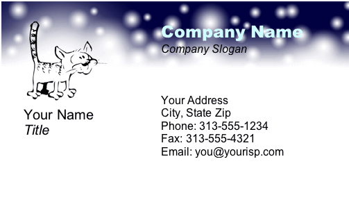 Night Cat business card