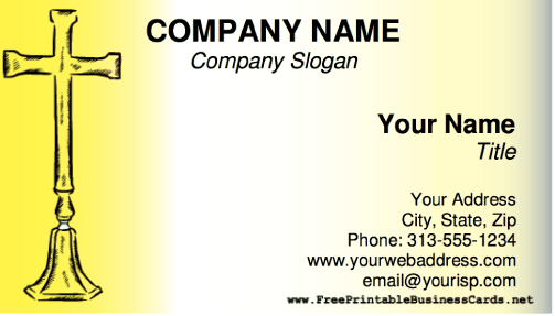 Cross business card