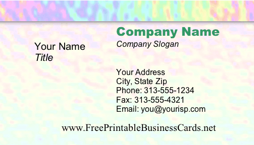 Ripples business card