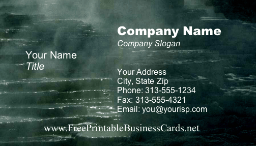 Rocks business card