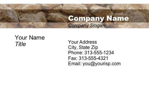 Rock Wall business card