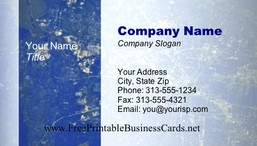 Satellite View business card