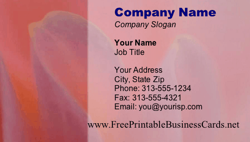 Soft Flower business card