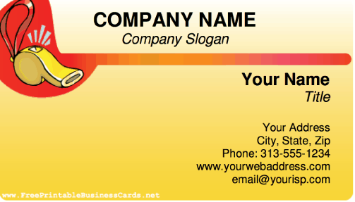 Whistle business card