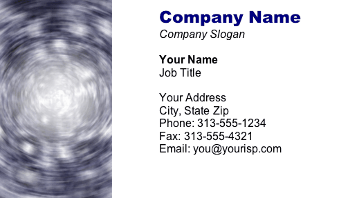 Swirl business card