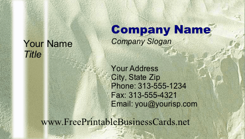 Texture #12 business card