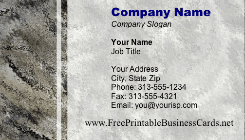 Texture #14 business card