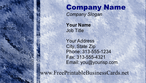 Texture #14a business card