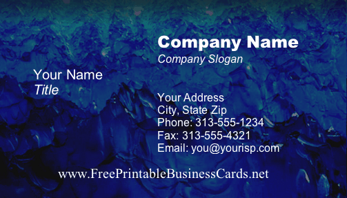 Texture #15 business card