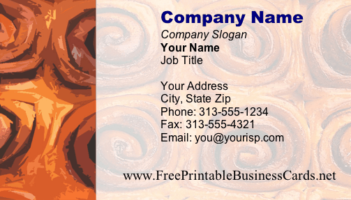 Texture #4 business card