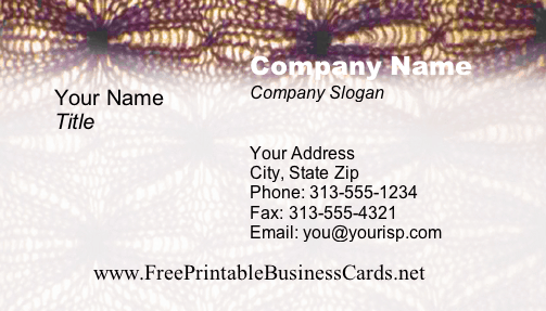 Texture #7 business card
